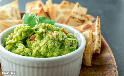 istock Guacamole close-up view. 802247530
