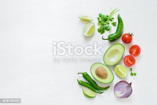 istock Guacamole ingredients background 878155432