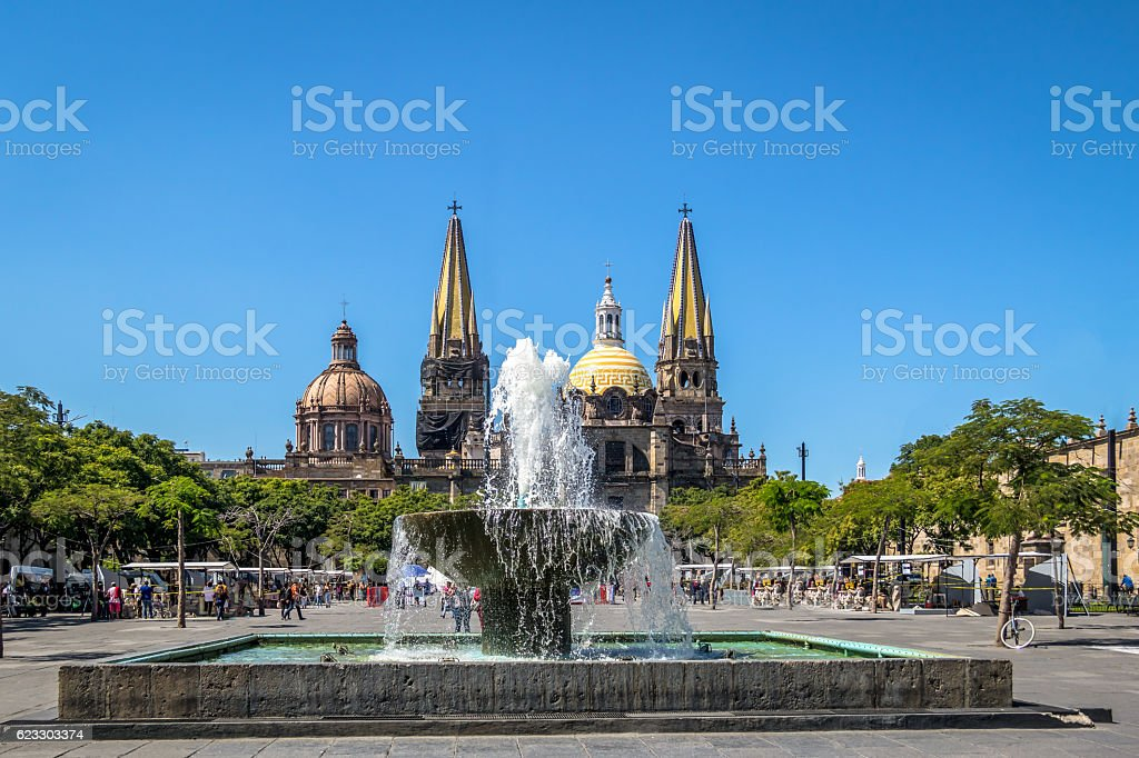 Guadalajara Cathedral Guadalajara Jalisco Mexico Stockfoto Und Mehr