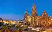 Guadalajara Metropolitan Cathedral Mexico - Catedral Metropolitana by night