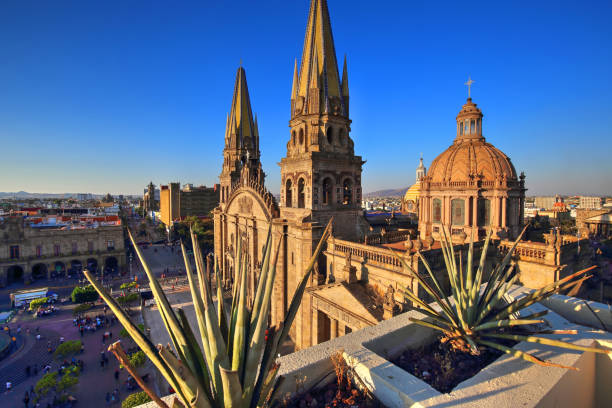 guadalajara cathedral (cathedral of the assumption of our lady), mexico - mexico stock photos and pictures