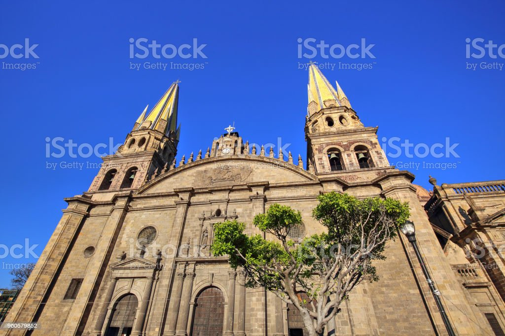 Guadalajara Cathedral (Cathedral of the Assumption of Our Lady), Mexico stock photo