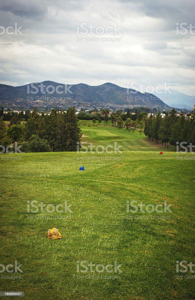 Guadalhorce golf course stock photo