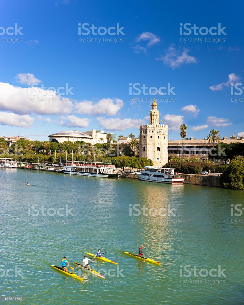 Guadalquivir river royalty-free stock photo