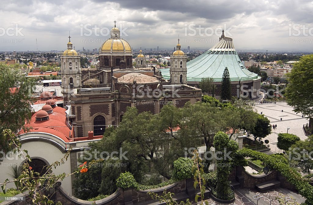 Guadalupe Basilica in Mexico City stock photo