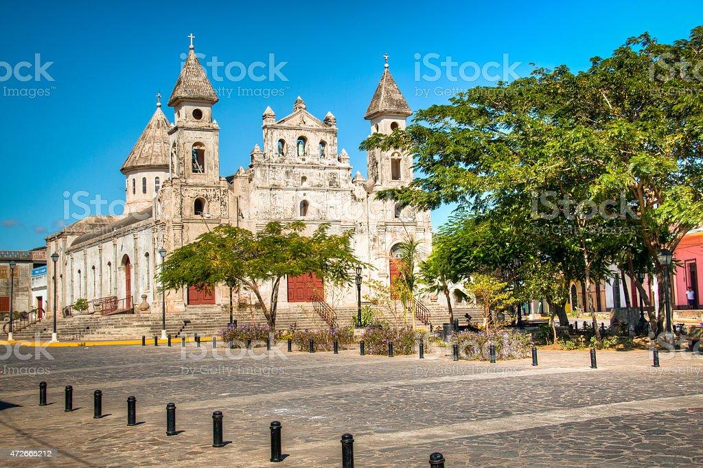 Guadalupe Church at Granada, Nicaragua stock photo