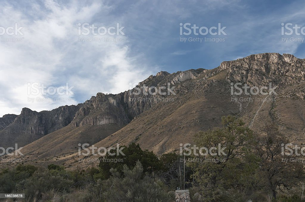 Guadalupe Mountains formation stock photo