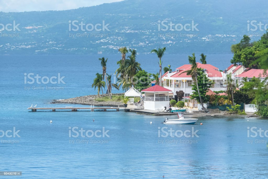 Guadeloupe, seascape of the Saintes islands stock photo