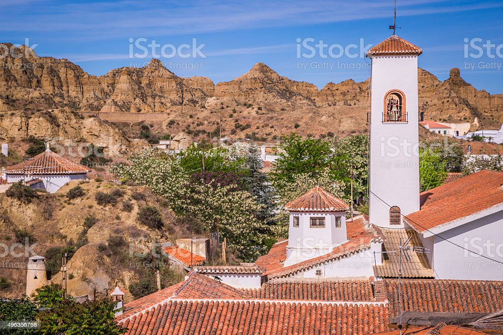 Guadix, villages in the province of Granada Andalucia, Southern stock photo