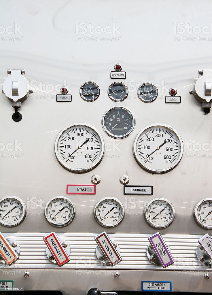 Guages and Controls royalty-free stock photo