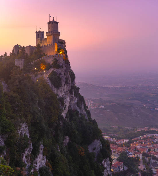 Guaita fortress in San Marino stock photo