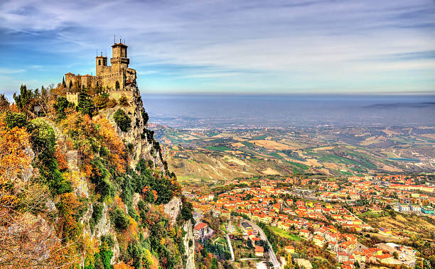 guaita, the first tower of san marino - della stock pictures, royalty-free photos & images