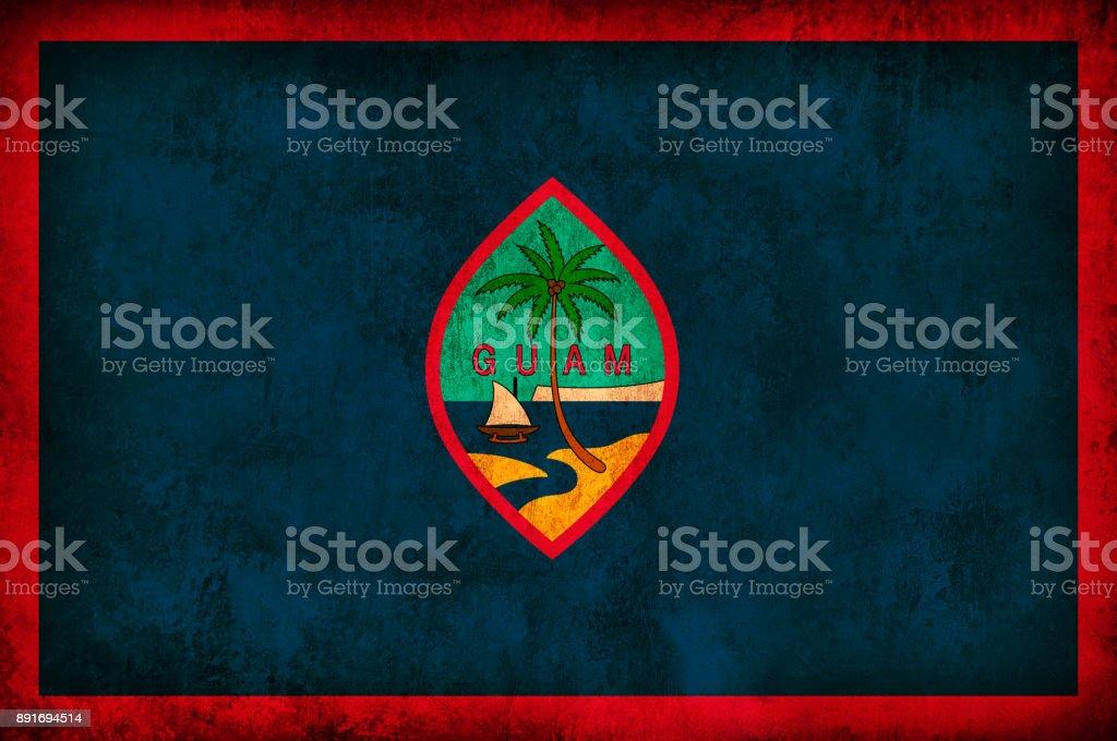Guam Grunge Flag stock photo
