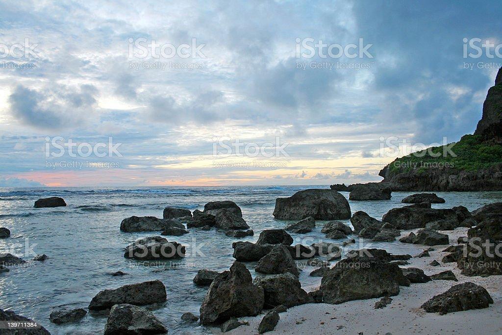 Guam sunrise royalty-free stock photo
