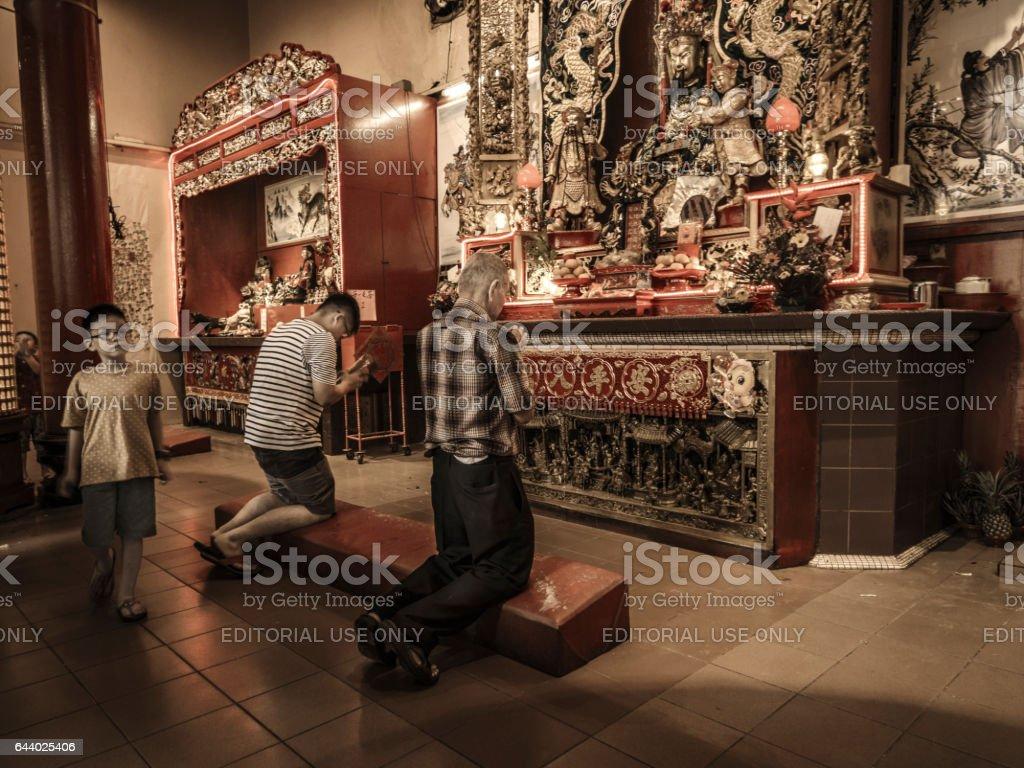 Templo taoista de Guan Di Kuala Lumpur - foto de acervo