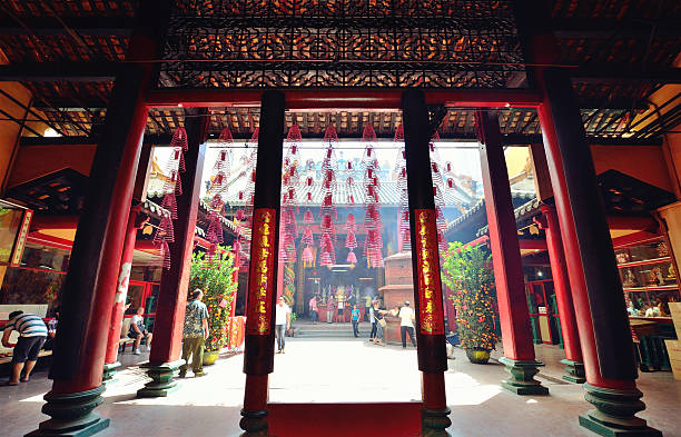 Guan Di temple, Kuala Lumpur Kuala Lumpur,Malaysia - February 16, 2014:People can seen praying in the Guan Di temple which is located in Jalan Tun H.S.Lee,Kuala Lumpur. taoism stock pictures, royalty-free photos & images