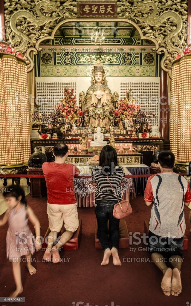 Deusa de Guan Yin Thean Hou temple Kuala Lumpur - foto de acervo
