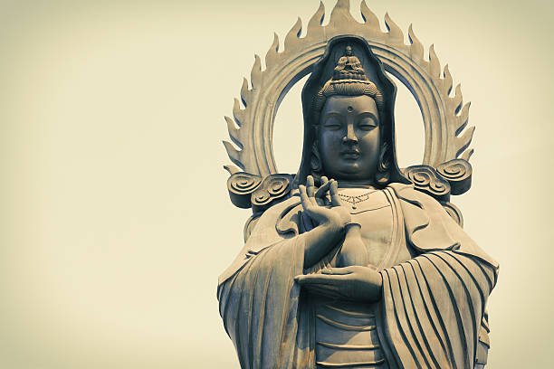 Guan Yin   (The Goddess of Mercy) Guan Yin Statue (The Goddess of Mercy) at china, wuhan bodhisattva stock pictures, royalty-free photos & images