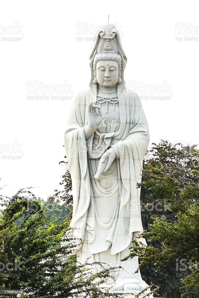 Guan yin sculpture royalty-free stock photo