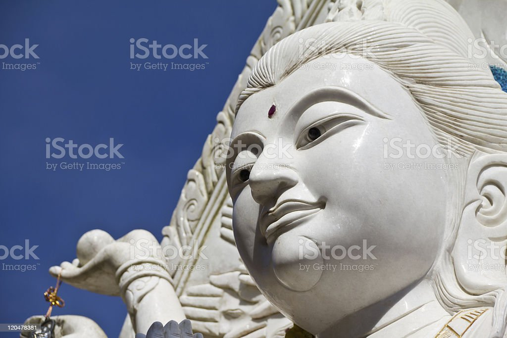 Guan Yin statue,The Goddess of Mercy, at Golden Triangle royalty-free stock photo
