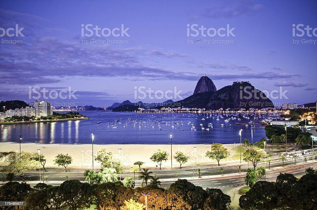 Guanabara bay and Sugar Loaf royalty-free stock photo