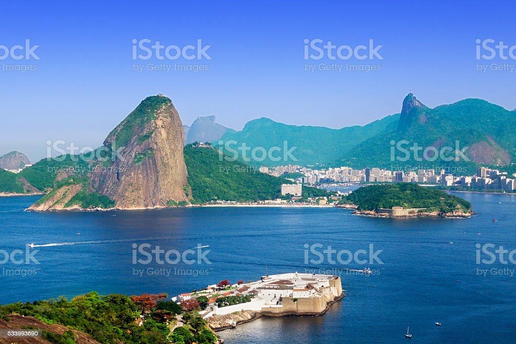Guanabara Bay entrance in Rio de Janeiro stock photo