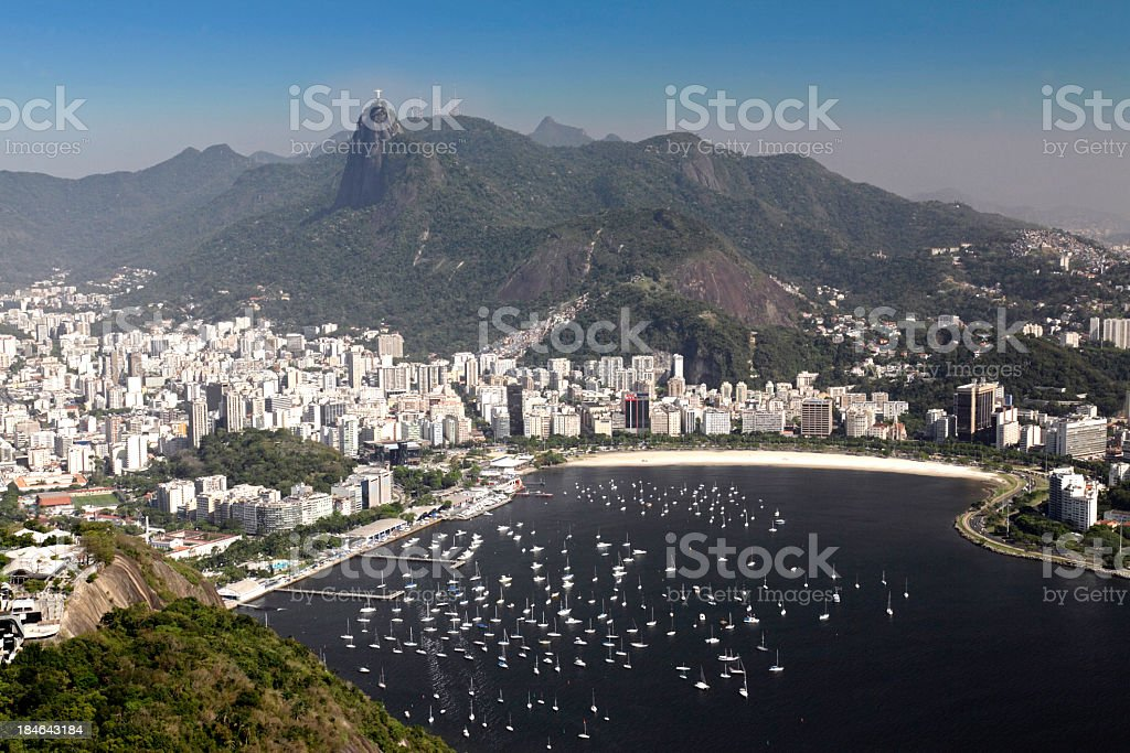Guanabara Bay in Rio de Janeiro royalty-free stock photo