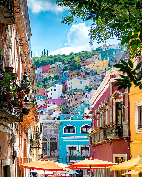 guanajuato colorful streets mexico - mexico stock photos and pictures