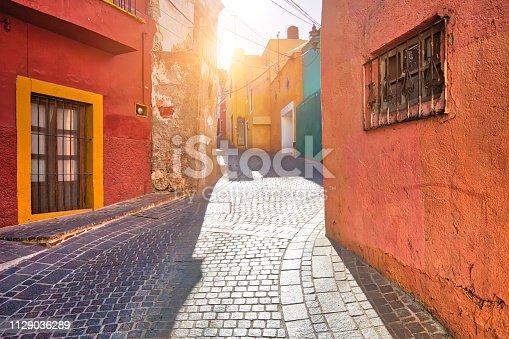Guanajuato, Mexico, scenic old town streets