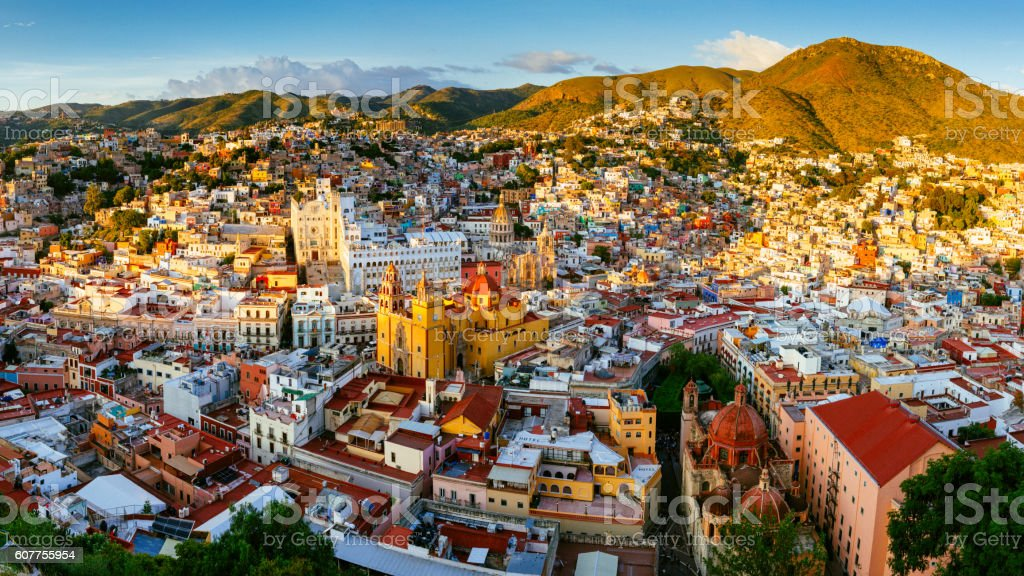 Guanajuato Panoramic Aerial View Mexico stock photo