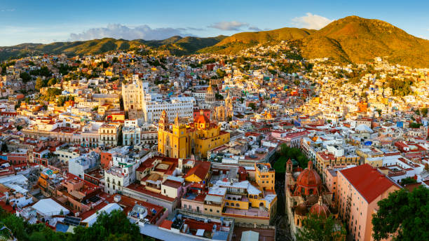 Guanajuato Panoramic Aerial View Mexico – Foto