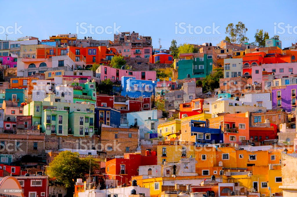 CASAS DE Guanajuato stock photo