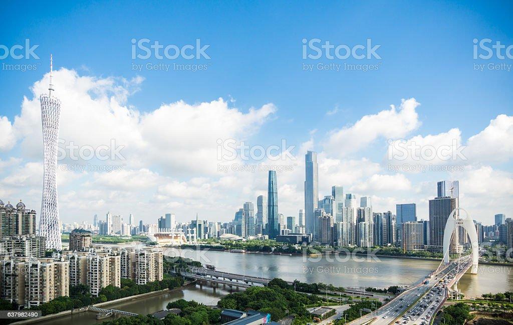 Guangzhou cityscape in daytime – Foto