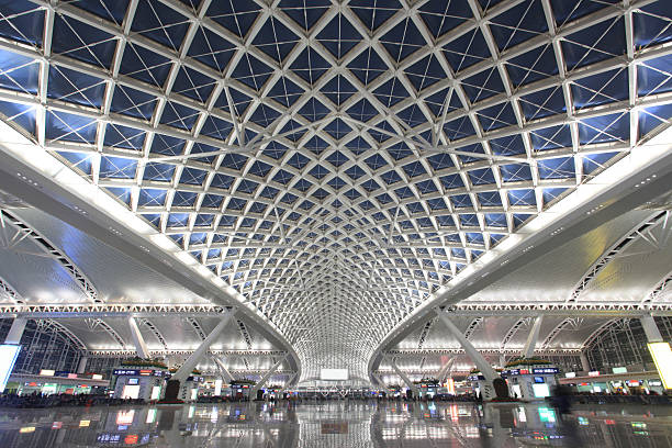 Guangzhou railway station stock photo