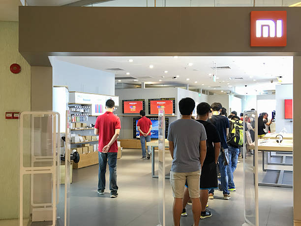 Guangzhou's new Xiaomi Store stock photo