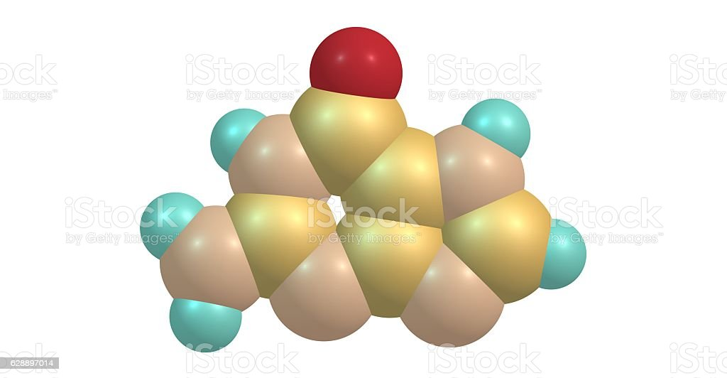 Guanine molecular structure isolated on white stock photo