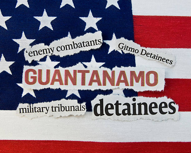 Guantanamo Newspaper clippings about Guantanamo and the detainees. mount combatant stock pictures, royalty-free photos & images
