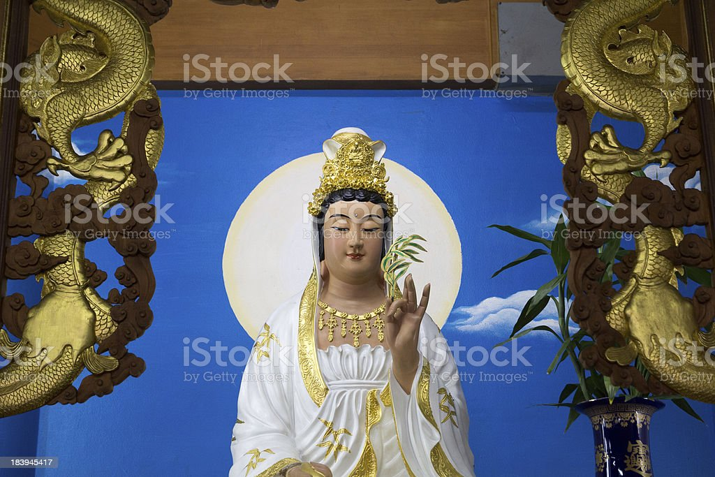 Guanyin in Chinese Temple royalty-free stock photo