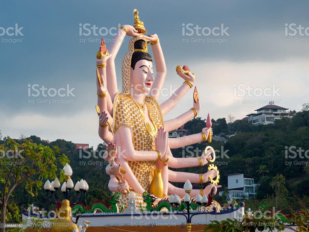 Guanyin statue stock photo