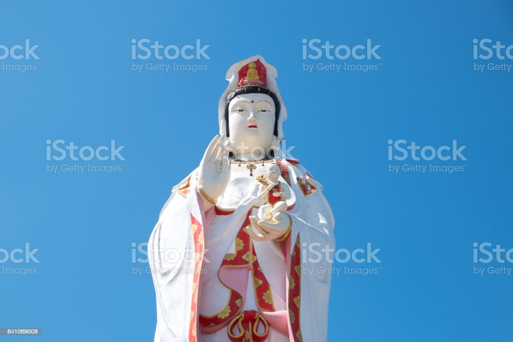 Guanyin statue stock photo