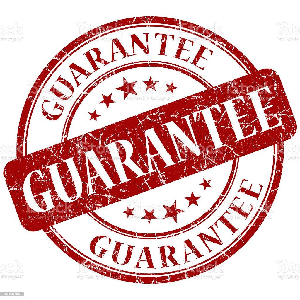 guarantee red round stamp stock photo