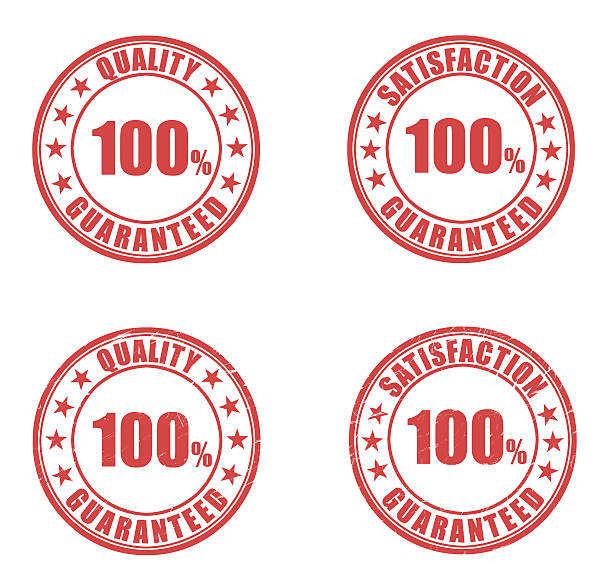 Guarantee Rubber Stamps stock photo