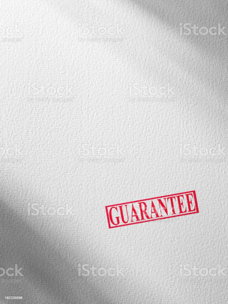 Guarantee Stamp in Red royalty-free stock photo