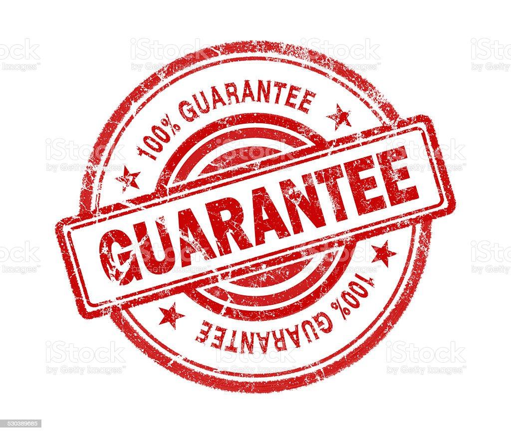 guarantee stamp on white background stock photo