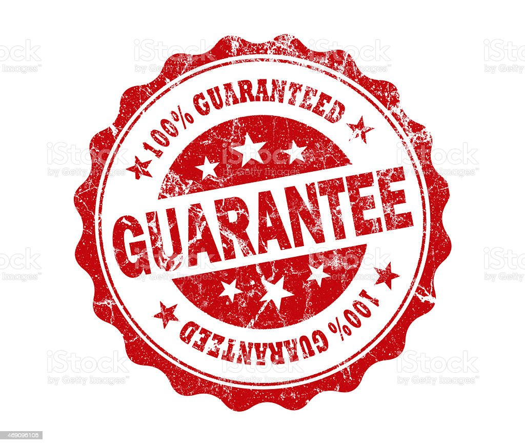 guarantee stamp stock photo