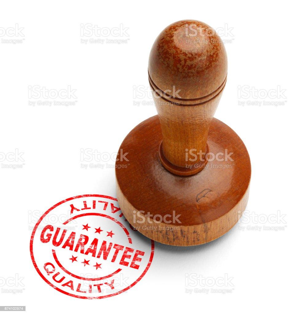Sello de garantía - foto de stock