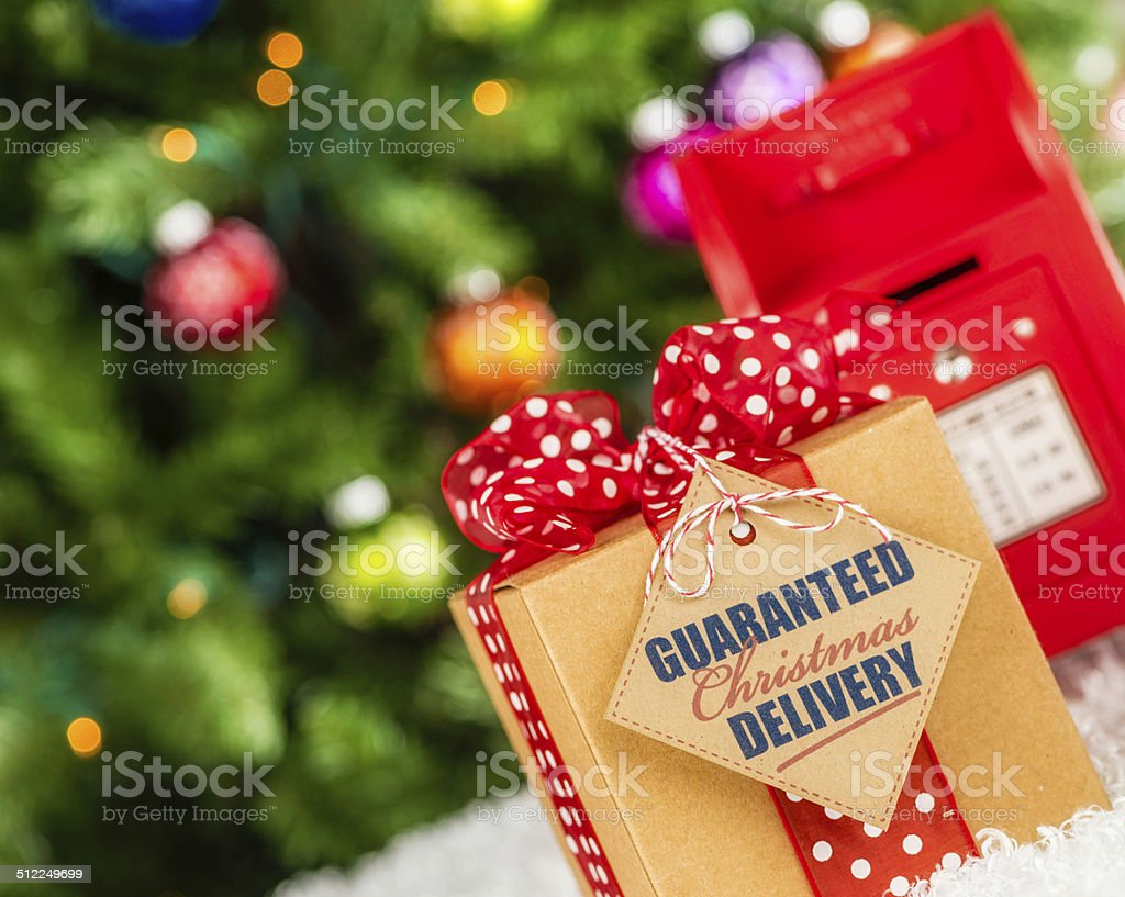 Guaranteed Christmas Delivery of Mail stock photo
