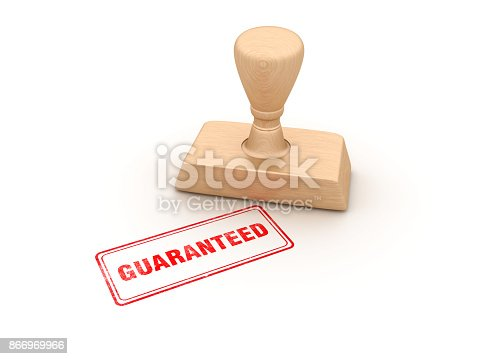 istock Guaranteed Rubber Stamp - 3D Rendering 866969966