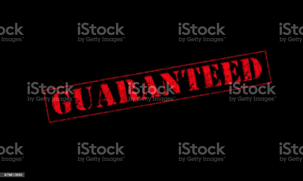 guaranteed rubber stamp stock photo