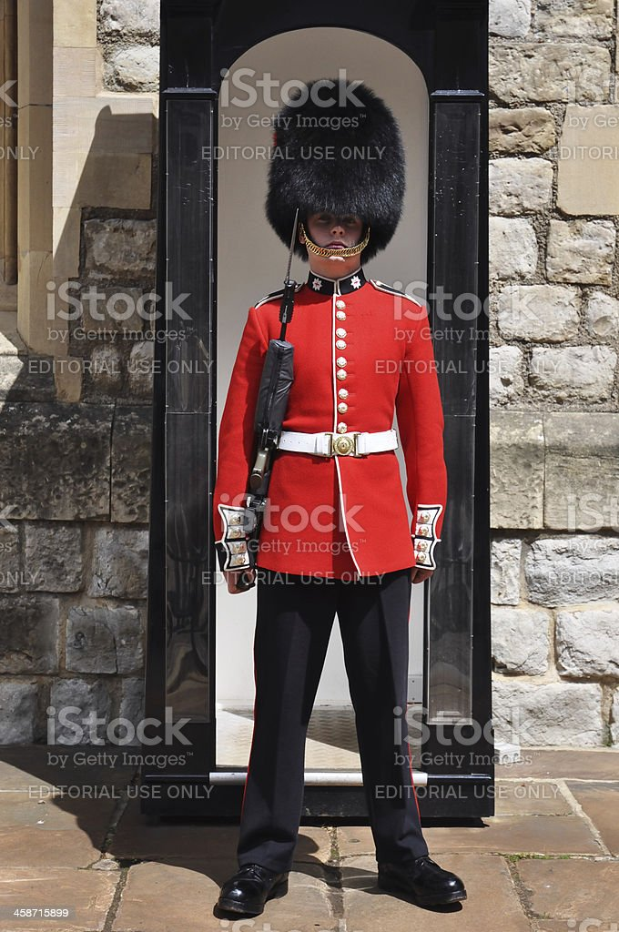 Guard at the Tower of London stock photo